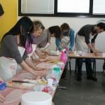 Corso Cake Design Sassuolo 5 feb 2012 - corsisti al lavoro 1