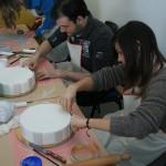 Corso Cake Design Sassuolo 5 feb 2012 - corsisti al lavoro 2