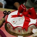 La torta realizzata da una corsista